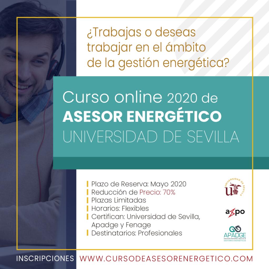 Curso Asesor Energético 2020 online